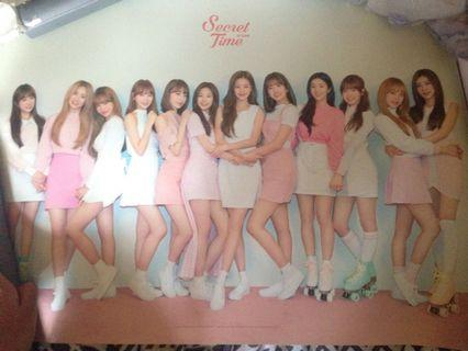 WTS IZ*ONE POSTER SECRET TIME