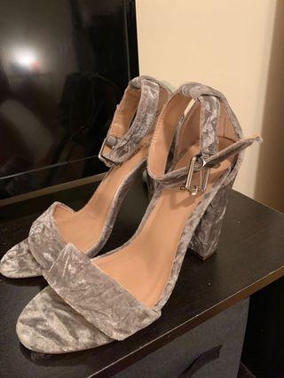 Silver heels size 8.5