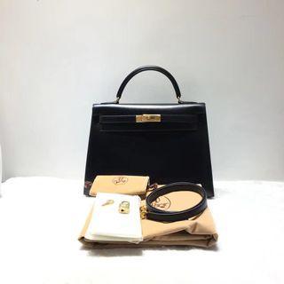 Authentic Vintage Hermès Kelly 32 Box Leather