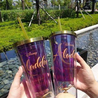 韓國樂天戲院x迪士尼阿拉丁神燈冷飲杯