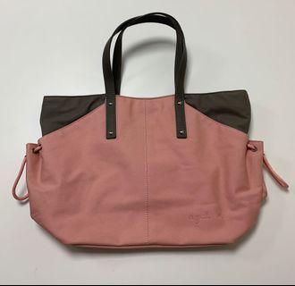 🚚 全新正品 未使用 agnes b 手提包 肩背包 購於香港 日本製