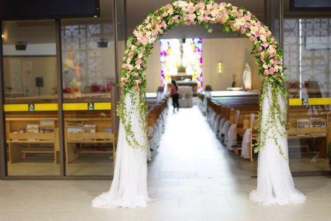 Church of the Transfiguration : Customizable ROM / Church Wedding / Hotel wedding Fresh Flowers Venue Decor / wedding table centerpiece