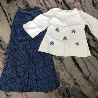 Baju Kurung linen customade with beads