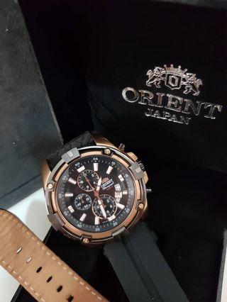 Orient Rose Gold Chronograph watch(100M)