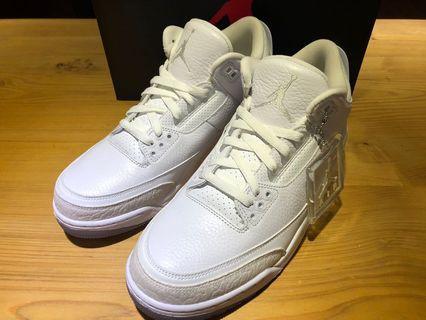 🚚 NIKE AIR JORDAN 3 RETRO PURE WHITE 喬丹 純白 籃球鞋 136064-111 男公司貨
