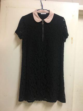 Zara 黑色 lace連身裙