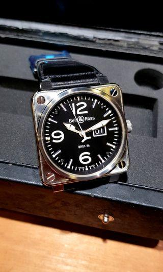 Bell and Ross 46mm Big Date REF: BR01-96
