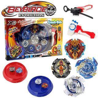 Beyblade Burst 4pcs toy Set With Launcher Stadium Metal Fight Kid