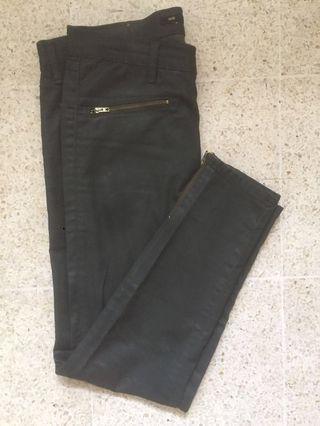 Zara Woman Skinny Ankle Zipped Pants