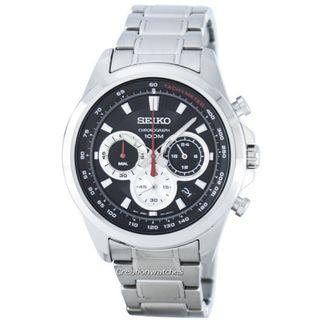 🚚 Seiko Chronograph Quartz Tachymeter SSB241 SSB241P1 SSB241P Men's Watch