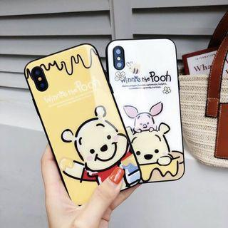 IPHONE CASINGS: WINNIE THE POOH HONEY CASE IN WHITE AND YELLOW