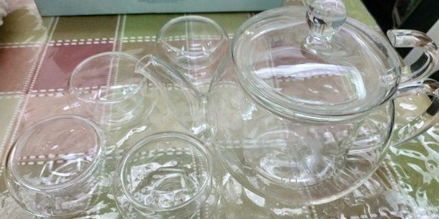 晶透耐熱玻璃壺杯組