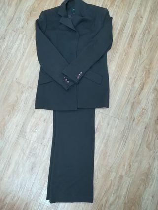 Dark brown formal suit with pants