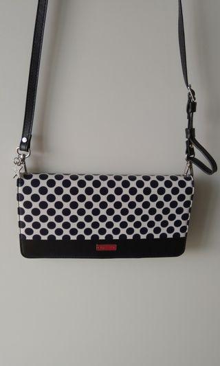 agnes b. lmse polka dot crossbody bag