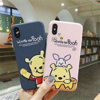 IPHONE CASINGS: WINNIE THE POOH IN NAVY BLUE AND PINK SOFT CASE