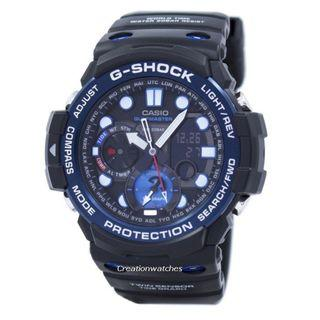 🚚 Casio G-Shock GULFMASTER Twin Sensor Moon Data Tide Graph GN-1000B-1A GN1000B-1A Men's Watch
