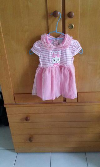 嬰幼兒 蕾絲 蓬蓬裙 上衣洋裝 尺寸90公分