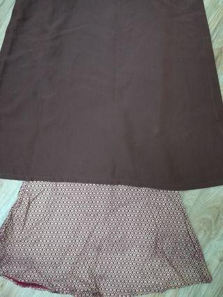 Baju Kurung Modern Dark Brown