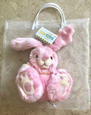 Pink bunny soft toy