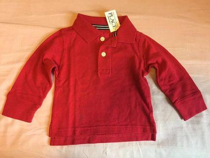 The children's place long sleeves polo shirt