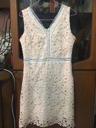 Crochet baby pink dress