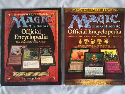 Magic The Gathering Official Encyclopedia Vol 1 & 2
