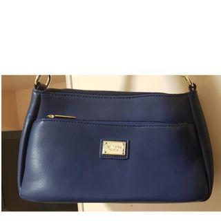 Perlini Mel Handbag / Slingbag - Navy Blue - $20.00