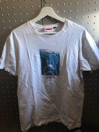 Mens cotton on x jaws t shirt