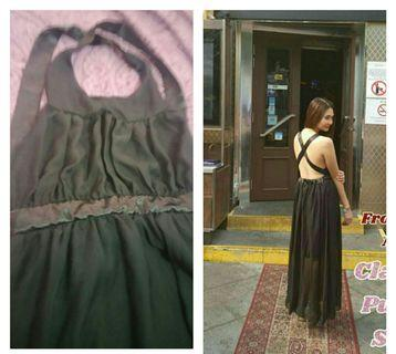 Preloved Backless Black Gown