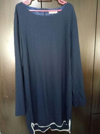 Dark Blue Long Sleeve Top