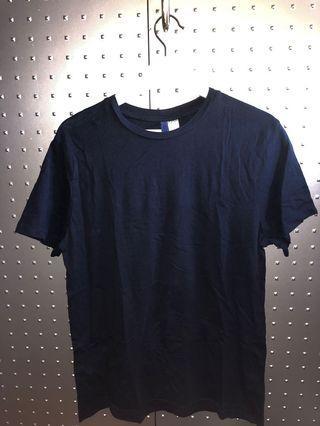 H&M divided mens dark blue t-shirt