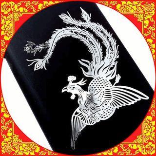 🚚 ▲Metal Filigree Phoenix Sticker▲