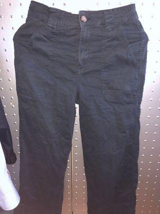 Cotton on wide legged cropped trousers