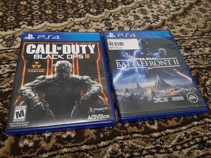 Call Of Duty Black Ops 3 and Star Wars Battle Front 2
