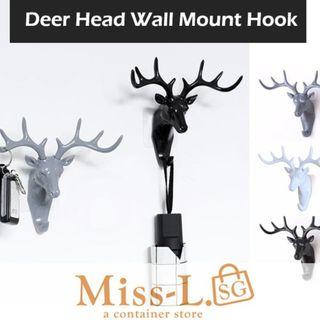 🏅🏅DEER HEAD WALL MOUNT HOOK