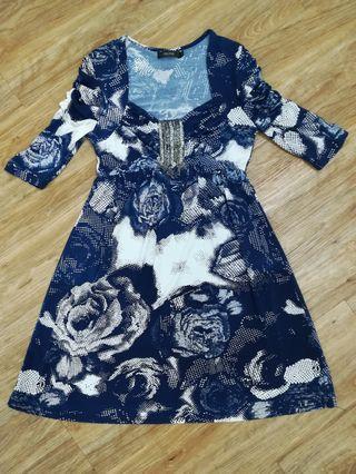 Dark Blue Short Dress