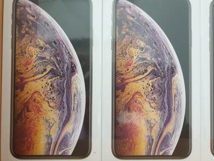 Dual sim iphone xs max 256 gold, grey