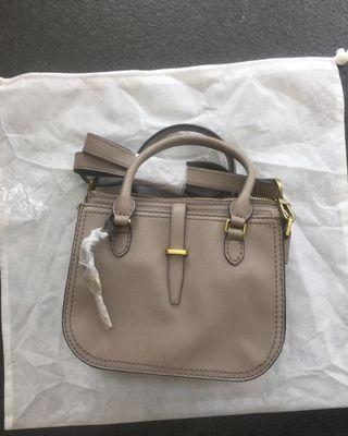 Fossil Ryder mini satchel Taupe