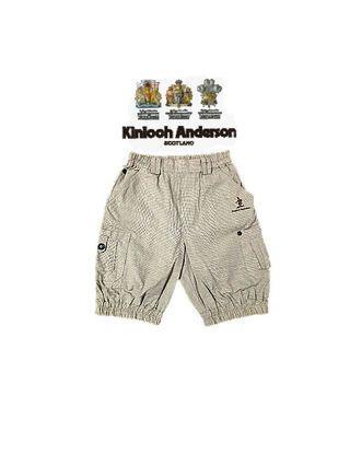 專櫃購得*小金安德森kinloch Anderson 前雙側口袋 小格紋 褲管鬆緊縮口設計英倫紳士男童短褲/五分褲(85)