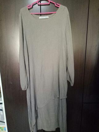 🚚 Gray Long Dress