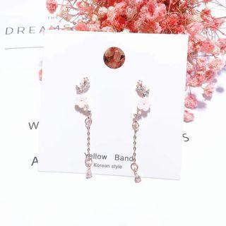 Korean Trending Earring - Flowerish Pearl Drop