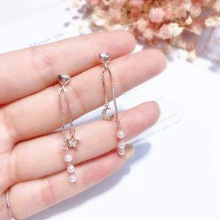 Korean Trending Earring - Heart Shape Pearl Drop