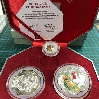 2017 Silver 3 coin Set