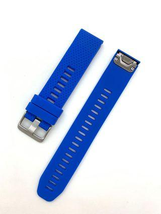 20mm Royal Blue Silicon Rubber Replacement Watchband Watch Strap with Quick Release for Garmin Fenix 5S and other watches with 20mm lug width