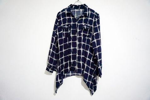 Navy Blouse Shirt