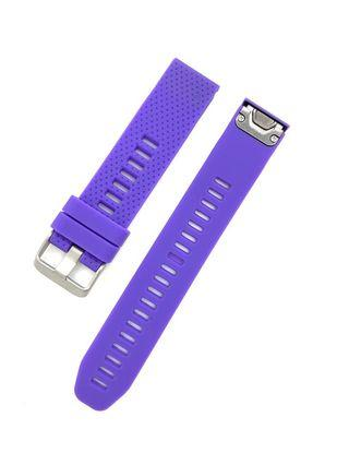 20mm Purple Silicon Rubber Replacement Watchband Watch Strap with Quick Release for Garmin Fenix 5S and other watches with 20mm lug width