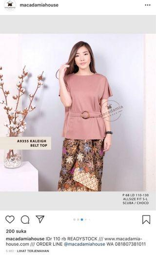 Baju kaleigh belt top