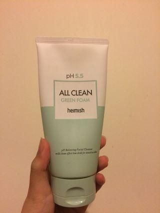 Heimish All Clean Green Foam Cleanser