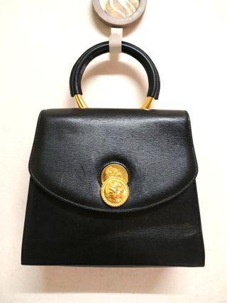 Vintage TAKEO de 365 Black Genuine Leather Handbag