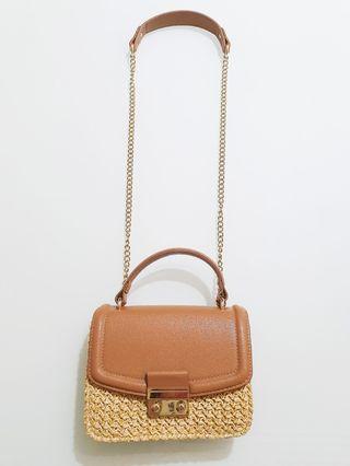 Reduced Price!!! H&M Mini Straw Bag / Shoulder Bag